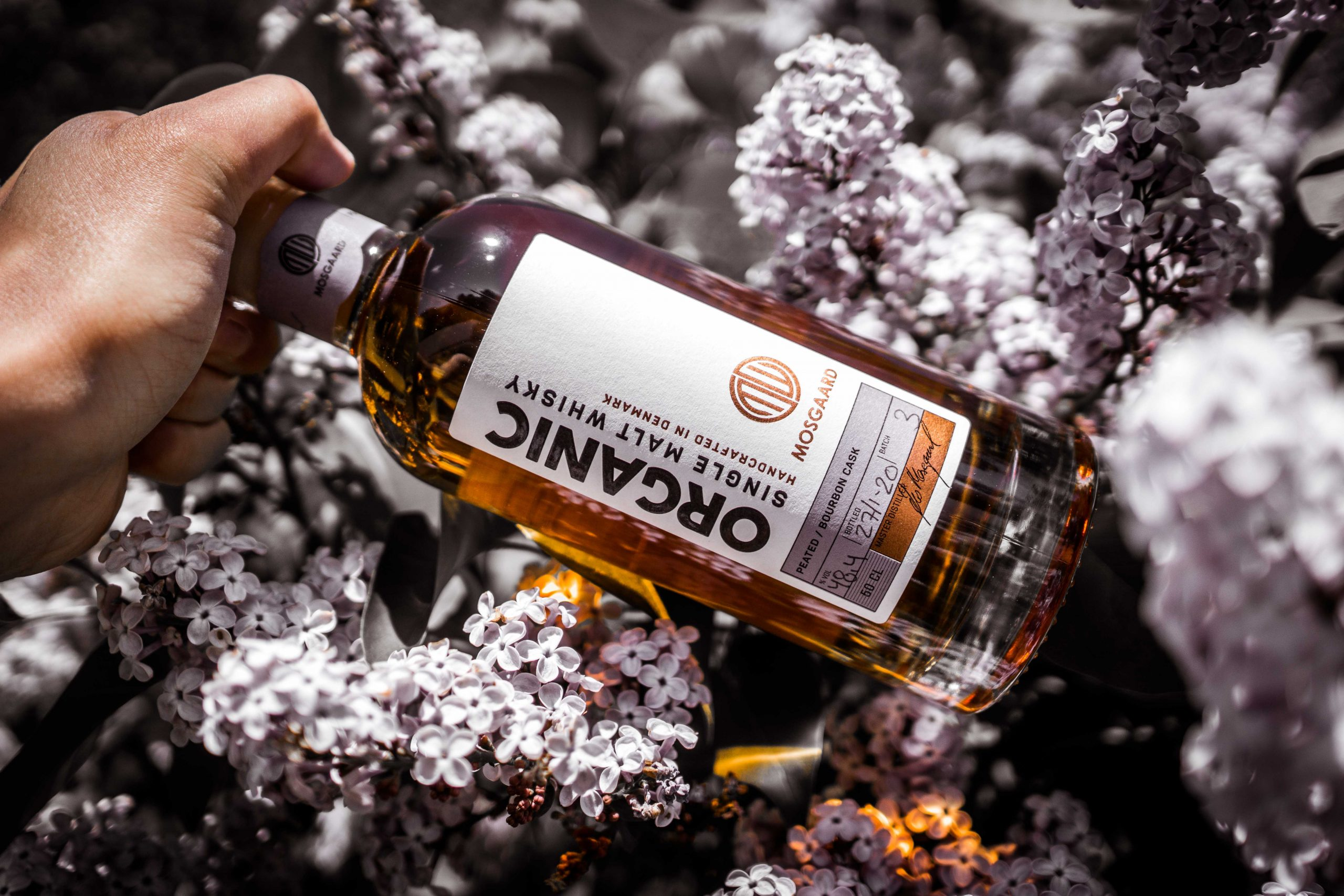 Mosgaard Organic peated whisky – bourbon cask